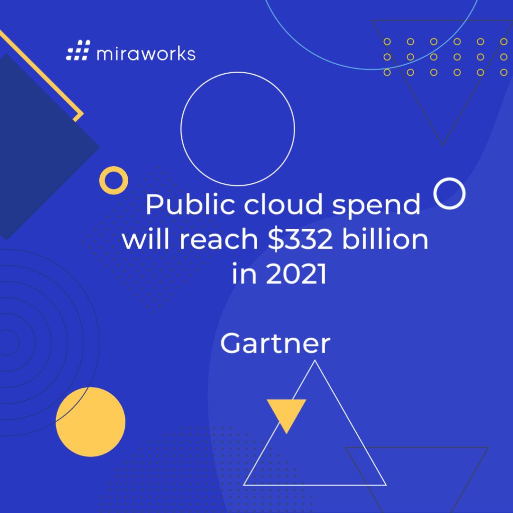 Public cloud spend will reach $332 billion in 2021 - Gartner